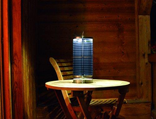 Nachhaltige Tischleuchte +SOL aus Edelstahl [hoch] von .STOOL | Hochwertig und Edel | Lampe mit Solar-Schirm | für Garten, Terrasse, Balkon | Indoor & Outdoor | 1.9 kg