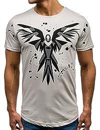 BOLF Herren T-Shirt Tee Kurzarm Aufdruck Print Camo Lang Slim Fit Mix 3C3 Motiv