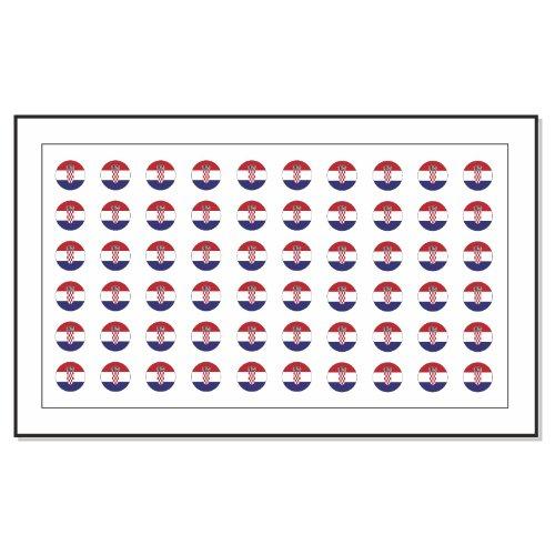 60 Drapeau Croatie Autocollants Tatouage Nail Art de transfert
