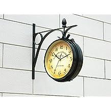 A doble cara Reloj de pared Reloj de pared Reloj Digital Vintage Wanduhr Duvar Saatleri Relojes Decoracion Reloj de pared decorativo Klok,Saudita Reloj de pared,China
