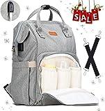 Lychee Baby Wickelrucksack Wickeltasche Rucksack Multifunktional mit 3 Isolierte Tasche | Wasserdicht | Große Kapazität | Lässige Kapazität für Beste Ideal Stilvolle Taschen für Mama und Papa (Grau)