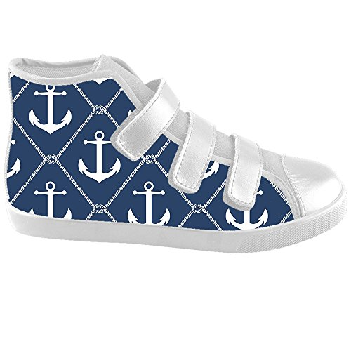 Dalliy Blue ocean Anchor Kids canvas Footwear Sneakers Shoes Chaussures de toile Baskets E