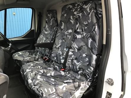 MR E SAVER/© Grey Camouflage Heavy Duty Waterproof Van Seat Covers MRE21GCAMO1216