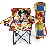 Arditex WD7867 - Silla plegable con brazos y funda, diseño Mickey Mouse