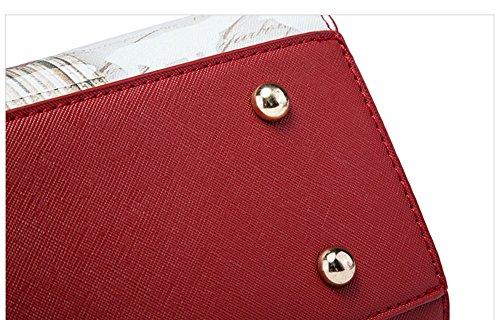 Pacchetto di personalità di moda estate, versione coreana dello zaino del sacchetto di spalla, borse selvaggi, borse ( Colore : Vino rosso ) Grigio