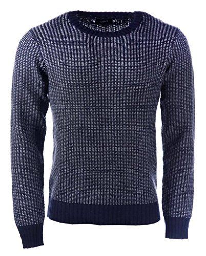 GANT Nouveaux Prep Cotton Alpaca Jacquard Mens Crew Evening Blue