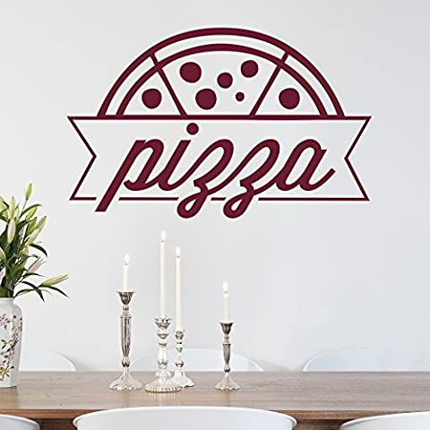Pizza adhesivo de pared por stickerstudio, Geranium Red, Large 89cm x 58cm