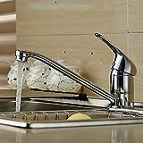 Auralum Armatur Einhandmischer Küche Wasserhahn Spültischarmatur Messig