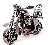 EQLEF® Motorradmodell kreative Handwerk Geschenk , RetromotorradModell, Metallmaterial, Erledigte Elektrolytische Auflage (Art 1)