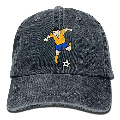 7c8e18892b5fe Wdskbg Football Boy Unisex Ajustable Gorras De Béisbol Denim Sombreros  Cowboy Sport Outdoor Multicolor20