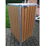 Hide Mülltonnenbox, Mülltonnenverkleidung, Gerätebox Natur braun // 69x80x115 cm (BxTxH) // Aufbewahrungsbox für 1 Mülltonne 240l Volumen