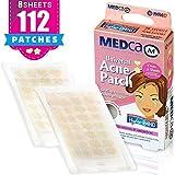 Acne Patch - (confezione da 112) Bendaggi idrocolloidici per il trattamento dei brufoli che assorbono i punti di copertura dello Zit, le forme del cuore e delle stelle di MEDca