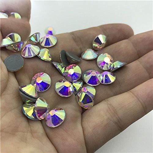 PENVEAT Beste Qualität frei AB Kristallrhinestone-super helle Glas Strass Eisen auf Rhinestones für Stoff Kleidungsstück, Kristall ab, 16ss 1440pcs -