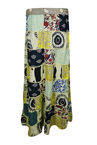 Boho Chic Designs -  Gonna  - linea ad a - Donna White, Yellow
