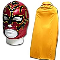 Estrella Fugaz morphsuit adultos máscara DE LUCHA LIBRE MEXICANA w/gold cabo