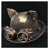 S.Y.MMSY Frauen Hut Retro Lolita Frauen Männer Steampunk Melone Brille Topper Top Cosplay Hüte Top Hüte (Farbe : Black JD, Größe : 57-58 cm)