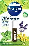 STERIPAN - Roll-On Maux De Tête - Relaxant & Stimulant - Favorise La Détente Et La Concentration - Huiles Essentielles 100 %  Pures & Naturelles - 5 ML...