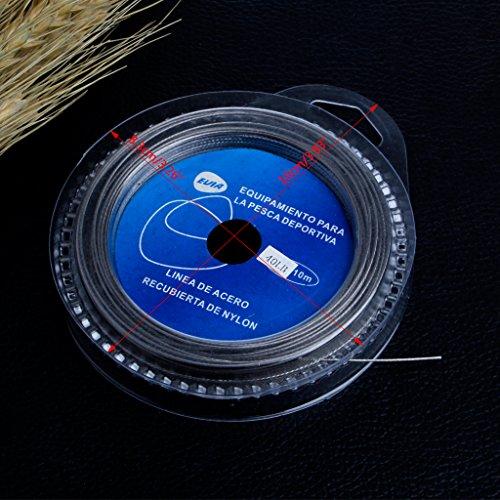 Bduco Angeln Werkzeug Edelstahl Draht Line Kunstköder Vorfach Trace Line Zubehör 10m 7Strähnen, Siehe Abbildung, 80LBS