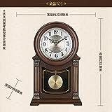 Y-Hui Massivholz Base Clock Mit dem Pendel in der Stille Im Wohnzimmer Uhr alte Pendeluhr Big Time Uhren, Huang Yang Holz [GD 411 -