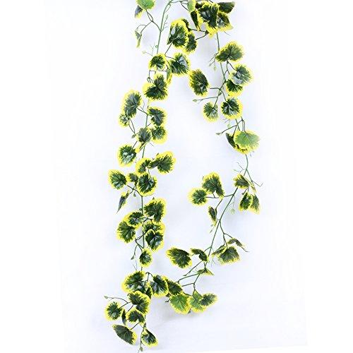 Li Hua Katzen Kunstpflanze Ivy Ranken Blätter Girlande 1x 82in zum Aufhängen Hochzeit Girlande Fake Blattwerk Blumen lebensechte Home Kitchen Garden Office Hochzeit Wand Decor Gradient