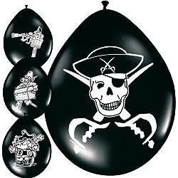 Globos de pirata para fiesta, 8 ud.