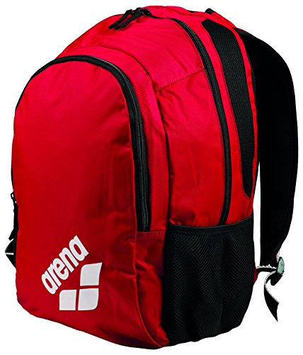 arena Unisex Freizeit Wettkampf Schwimm Sport Rucksack Spiky 2 (Wasserdichtes Bodenfach, 32x48x20cm), Red Team (40), One Size