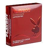 PLAYBOY «Sweet Love» (bunt und aromatisch) - Limited Edition mit 3 Kondomen