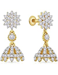 Malabar Gold and Diamonds 22KT Yellow Gold Jhumki Earrings for Women