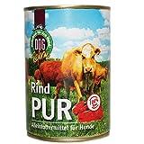 Schecker Dogreform Rind PUR 1 x 410g Nassfutter getreidefrei glutenfrei geeignet zum BARFen nur von eine Tierart Qualität