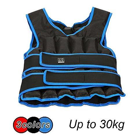 20kg 30kg réglable Gilet lesté Home Gym Training Course exercice pour femme, bleu