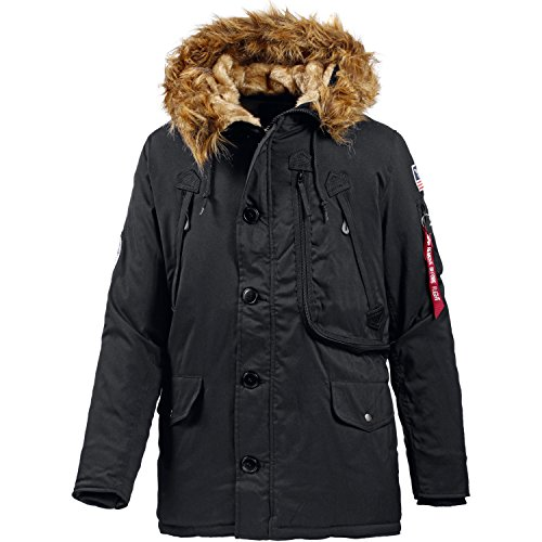 Alpha Industries Herren Polar Jacket Parkas, Schwarz (Black 03), XX-Large