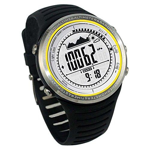 Docooler FR802B 5 ATM wasserdicht Höhenmesser Kompass Stoppuhr Angeln Barometer Schrittzähler Outdoor Sports Uhr Multifunktions