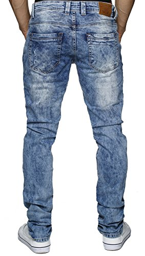 LEIF NELSON Herren Jeans Jeanshose LN1194 Dunkel Blau