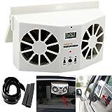 Bescita ad energia solare auto finestra d' aria ventilatore mini aria condizionata ventilatore freddo New