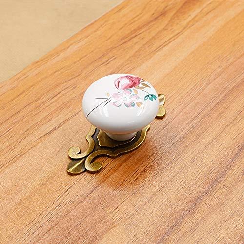 QIUA Maniglia per cassetto Maniglia da Cucina in Ceramica per Armadio da  Cucina con Maniglia a Foro Singolo,Bronze,B