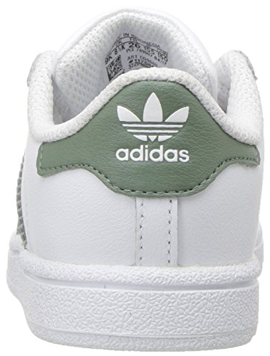 info for a3661 d21cd Adidas Originals Superstar, scarpe da ginnastica da ragazzo, Bianco (White Trace  Green Metallic Gold), 35.5 EU