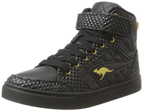 KangaROOS Damen Prisma II Hohe Sneaker, Schwarz (Jet Black), 39 EU