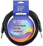 Leem Neutrik Câble pour Guitare 3 m Noir
