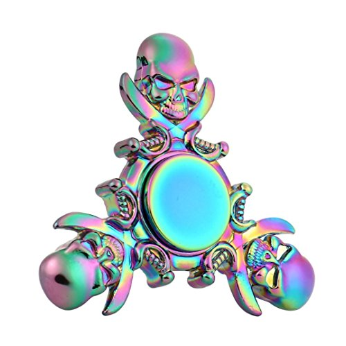 Metal Fidget Hand Spinner,Bescita Metal Fidget Hand Spinner Finger Toy EDC Focus Gyro Fast Shipping for ADD, ADHD, Anxiety, Killing Time (Multicolour)