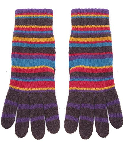 Paul Smith Men's Guanti in Cashmere a righe con Blend Multi Colorata Unica Taglia