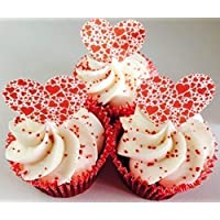 12 Pre-Cut Edible British Heart Foundation Cupcake Toppers