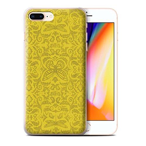 Stuff4 Hülle / Case für Apple iPhone 8 Plus / Rot Muster / Insekten Muster Kollektion Gelb