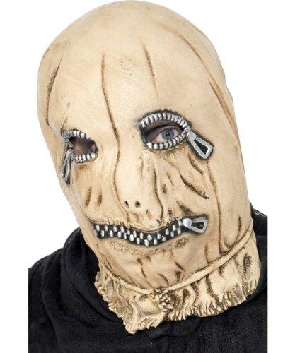 Leatherface Sklave Reissverschluss Zip Maske Halloween