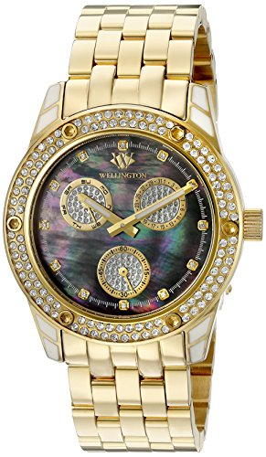 Wellington Mataura Women's Quartz Watch with Mother of Pearl Dial Analogue Display and Gold Stainless Steel Plated Bracelet WN507-229