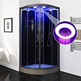 Bocy Boon Steam Shower Cubicle Enclosure 3KW Generator with 6 Body Massage Jets