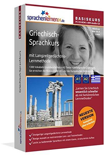 Preisvergleich Produktbild Sprachenlernen24.de Griechisch-Basis-Sprachkurs: PC CD-ROM für Windows/Linux/Mac OS X + MP3-Audio-CD für MP3-Player. Griechisch lernen für Anfänger