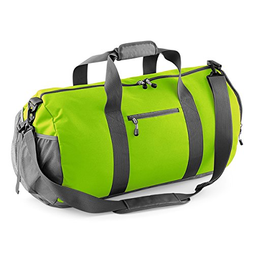 BagBase Tasche fur Gym Freizeitsport Seesack 62x35x35cm 58L Fitness LIME GREEN