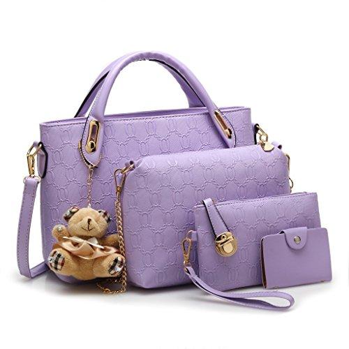Damen Veloursleder Bags Trend Beutel Handtaschen Wildleder Niedlich Tasche Beuteltaschen Hobo Velours Bags Schultertaschen Lila Pu Keshi EqS7BB