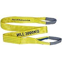 Pro-Lift-Montagetechnik 3t Hebeband mit 2 Schlaufen, Länge 3m, 2-lagig genäht, WS33J, 02115