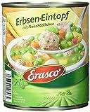 Erasco Erbsen Eintopf mit Fleischbällchen. 3er Pack (3 x800 g)